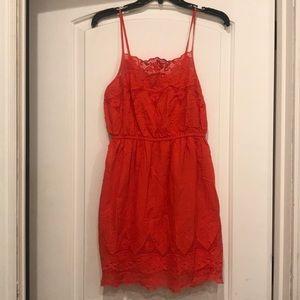 KIMCHI BLUE Red Eyelet Sun Dress